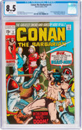 Bronze Age (1970-1979):Adventure, Conan the Barbarian #2 (Marvel, 1970) CGC VF+ 8.5 White pages....