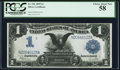 Large Size:Silver Certificates, Fr. 236 $1 1899 Silver Certificate PCGS Choice About New 58.. ...