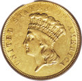 Three Dollar Gold Pieces: , 1854-O $3 AU55 PCGS. In this first year of production for the threedollar denomination, coins were struck in Philadelphia,...
