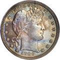 Proof Barber Quarters: , 1909 25C PR66 PCGS. If one examines the proof mintages of Barber coins, it is easy to draw the conclusion that the series s...