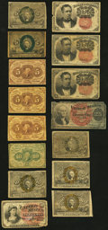 Fractional Currency:Group Lots, Twenty-Five Fractional Notes Very Good or Better. . ... (Total: 25 notes)