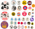 Music Memorabilia:Memorabilia, Sam the Sham / Tony Bennett / Canned Heat and Others Group of Vintage Pinback Buttons (Circa 1950s-1970s)....