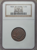 Half Cents, 1828 1/2 C 12 Stars, C-2, B-3, R.2, AU55 NGC. NGC Census: (29/105).PCGS Population: (1/9). Mintage 606,000. . From Th...