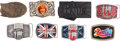 Music Memorabilia:Memorabilia, Beatles Collection of Eight Belt Buckles including Limited Edition,Serial Numbered Examples from 1992. ...