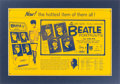 """Music Memorabilia:Posters, Beatles - Large Capitol Records Advertising Piece for the Set ofFour """"Life-Size Full-Color Beatle Portraits ...by Volpe"""" (US,..."""