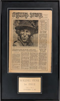 Music Memorabilia:Memorabilia, Beatles - Rolling Stone First Issue in a Framed Display(1967)....