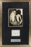 Music Memorabilia:Autographs and Signed Items, Duke Ellington Clipped Signature in a Framed Display....