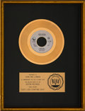 "Music Memorabilia:Awards, John Lennon ""(Just Like) Starting Over"" RIAA Gold Record AwardPresented to the Artist (Geffen GEF49604, 1980). ..."