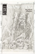 Original Comic Art:Miscellaneous, John Totleben Swamp Thing V2#88 Cover Preliminary ArtworkOriginal Art (DC, 1989)....