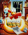 Memorabilia:Disney, Carl Barks Blizzard Tonight Signed Limited Edition Miniature Lithograph #419/595 (Another Rainbow, 1993)....