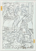 Original Comic Art:Panel Pages, Jeff Moy and Tom Simmons Legionnaires #22 Story Page 15Original Art (DC, 1995)....