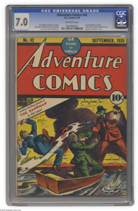 Adventure Comics #42 (DC, 1939) CGC FN/VF 7.0 Off-white pages. This issue's Sandman cover was only the second by Creig F...