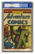 Golden Age (1938-1955):Superhero, Adventure Comics #44 (DC, 1939) CGC VF- 7.5 White pages. This was the third cover appearance of the Sandman -- the character...