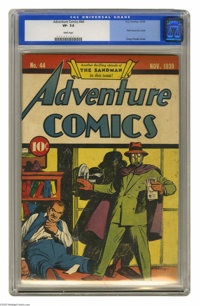 Adventure Comics #44 (DC, 1939) CGC VF- 7.5 White pages. This was the third cover appearance of the Sandman -- the chara...