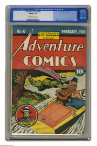 Adventure Comics #47 (DC, 1940) CGC FN/VF 7.0 Off-white to white pages. This FN/VF specimen is the highest-graded copy o...
