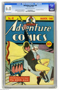Golden Age (1938-1955):Superhero, Adventure Comics #48 (DC, 1940) CGC FN 6.0 Cream to off-white pages. This is one of the key issues of Adventure's run, i...