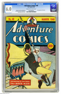 Adventure Comics #48 (DC, 1940) CGC FN 6.0 Cream to off-white pages. This is one of the key issues of Adventure's run, i...