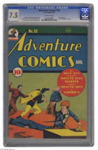 Adventure Comics #53 (DC, 1940) CGC VF- 7.5 Off-white pages. Every Golden Age hero worth his salt had a kid sidekick, an...