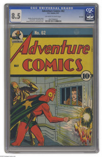 Adventure Comics #62 Big Apple (DC, 1941) CGC VF+ 8.5 Off-white to white pages. Starman, who had first appeared in the p...