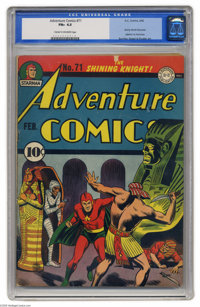 Adventure Comics #71 (DC, 1942) CGC FN+ 6.5 Cream to off-white pages. A couple of key firsts for Hourman are found in th...