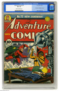 Golden Age (1938-1955):Superhero, Adventure Comics #72 (DC, 1942) CGC VG- 3.5 Cream to off-white pages. When Simon and Kirby joined DC, it was quite a landmar...