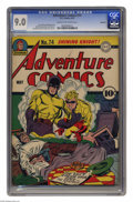 Golden Age (1938-1955):Superhero, Adventure Comics #74 Rockford pedigree (DC, 1942) CGC VF/NM 9.0 Cream to off-white pages. Simon and Kirby not only drew this...