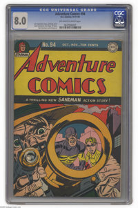 Adventure Comics #94 (DC, 1944) CGC VF 8.0 Off-white to white pages. This issue's Simon and Kirby cover can't help but g...