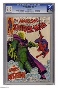 The Amazing Spider-Man #66 (Marvel, 1968) CGC NM+ 9.6 White pages. Mysterio spends this issue luring Spider-Man into a f...