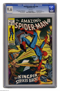 The Amazing Spider-Man #84 (Marvel, 1970) CGC NM+ 9.6 White pages. The Schemer harbors a grudge against the Kingpin, but...