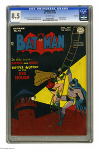 Batman #46 Rockford pedigree (DC, 1948) CGC VF+ 8.5 Off-white pages. The Joker's back, and this time the Hoodlum Harlequ...