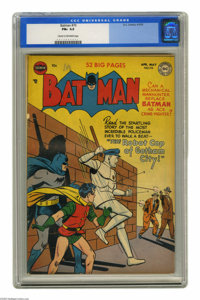 Batman #70 (DC, 1952) CGC FN+ 6.5 Cream to off-white pages. Win Mortimer cover. Bob Kane and Curt Swan art. Overstreet 2...