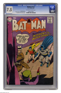 Batman #117 (DC, 1958) CGC VF- 7.5 Off-white to white pages. Curt Swan and Ray Burnley cover. Sheldon Moldoff and Charle...