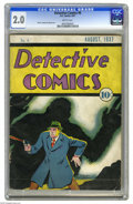 Platinum Age (1897-1937):Miscellaneous, Detective Comics #6 (DC, 1937) CGC GD 2.0 Brittle pages. Hailing from the dawn of DC, here's only the sixth issue of the ser...
