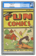 "Golden Age (1938-1955):Cartoon Character, More Fun Comics #11 (DC, 1936) CGC FN/VF 7.0 Cream to off-whitepages. Issue rated ""rare"" by Gerber, and CGC has certified a..."
