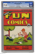 Platinum Age (1897-1937):Miscellaneous, More Fun Comics #13 Lost Valley pedigree (DC, 1936) CGC FN/VF 7.0Off-white pages. This is an early issue of DC's first-ever...