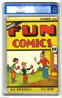 More Fun Comics #14 (DC, 1936) CGC FN 6.0 Light tan to off-white pages. This perhaps the best existing copy of a very si...