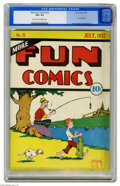 Platinum Age (1897-1937):Miscellaneous, More Fun Comics #22 (DC 1937) CGC VG+ 4.5 Light tan to off-whitepages. DC's oldest comic series was its flagship long befor...
