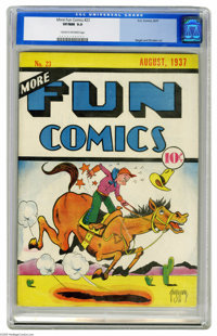 More Fun Comics #23 (DC, 1937) CGC VF/NM 9.0 Cream to off-white pages. Gorgeous copy belies its age - over 67 years old!...