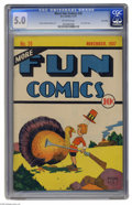 Platinum Age (1897-1937):Miscellaneous, More Fun Comics #26 Lost Valley pedigree (DC, 1937) CGC VG/FN 5.0Off-white pages. While Christmas covers were quite common ...