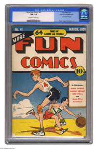 More Fun Comics #41 Mile High pedigree (DC, 1939) CGC NM- 9.2 Off-white to white pages. An early Golden Age issue is alw...
