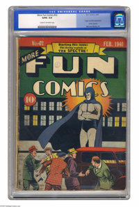 More Fun Comics #52 (DC, 1940) CGC GD/VG 3.0 Cream to off-white pages. This issue, the origin and first appearance of th...