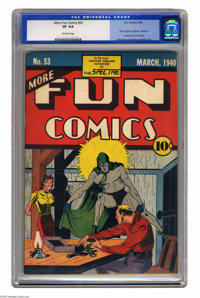 More Fun Comics #53 (DC, 1940) CGC VF 8.0 Off-white pages. This issue, the second appearance of the Spectre, is currentl...
