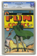 Golden Age (1938-1955):Superhero, More Fun Comics #54 Larson pedigree (DC, 1940) CGC NM- 9.2 White pages. The earlier issues of this title were cool enough, b...