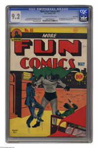 "More Fun Comics #55 Nova Scotia pedigree (DC, 1940) CGC NM- 9.2 Off-white to white pages. This issue has ""key""..."