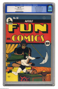 More Fun Comics #58 Mile High pedigree (DC, 1940) CGC NM 9.4 Off-white to white pages. You can see from the grade and ou...