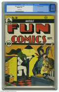 Golden Age (1938-1955):Superhero, More Fun Comics #59 (DC, 1940) CGC FN/VF 7.0 Off-white pages. Many consider the work Bernard Baily did on the Spectre covers...