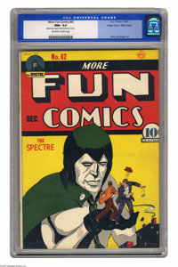 More Fun Comics #62 Mile High pedigree (DC, 1940) CGC NM+ 9.6 Off-white to white pages. The Spectre was a nearly omnipot...