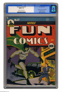 """More Fun Comics #67 (DC, 1941) CGC FN/VF 7.0 Cream to off-white pages. This comic, a Gerber """"7,"""" features the..."""