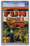 Golden Age (1938-1955):Superhero, More Fun Comics #68 Larson pedigree (DC, 1941) CGC VF 8.0 Off-white to white pages. Doctor Fate makes a house call to a mad ...