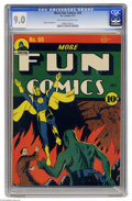 Golden Age (1938-1955):Superhero, More Fun Comics #69 (DC, 1941) CGC VF/NM 9.0 Off-white to white pages. Howard Sherman drew both this issue's cover featuring...